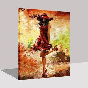 Танца девушка DIY живопись по номерам комплект современного стены искусства изображения по номерам акриловая краска на холсте для дома искусства