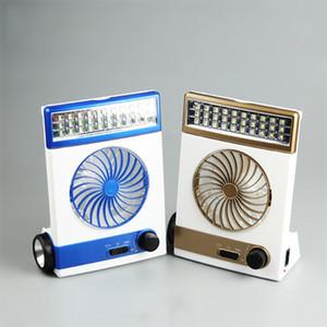 Solar Camping Lâmpada 30 LED Solar abajur Multi-Function com ventilador de refrigeração alimentado por painel de Solor ou cabo CA de carregamento para casa ao ar livre