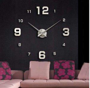 Muhsein New Home décoration grand miroir horloge murale design moderne grand Horloge décorative Horloges murales montre Livraison gratuite