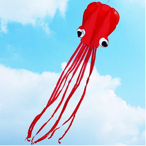 4m Single Line Stunt RED Octopus Power Sport Portable Kite Flying Juguetes de regalo para deportes al aire libre Kite Easy to Fly