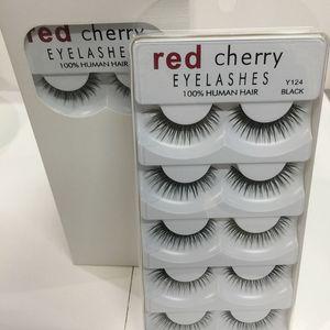 Red Cherry 3D pestañas falsas 5 pares / paquete 8 estilos Natural largo maquillaje profesional Big Eyes High Quality 3001224
