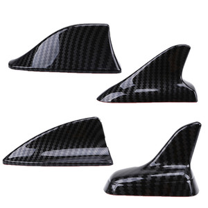 Otomatik Araç Evrensel Shark Fin Çatı Dekoratif Süsleme Anten Anten İmitasyon Karbon Elyaf Araba Etiketler Dış Parçaları