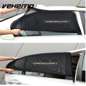 2 Pcs Car Window Cover Sombrinha Cortina de Proteção UV Escudo Sun Sombra Viseira Malha Protetor de Poeira Mosquito Solar Carro-cobre Novo