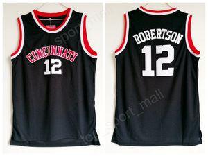Дешевые Оскар Робертсон Джерси 12 Университет Баскетбол Цинциннати Bearcats Колледж Трикотажные Изделия Мужчины Черный Цвет Дышащий Для Любителей Спорта Продажа