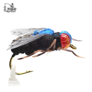 Lac Pêche à la mouche Lure 12pcs Mosquito Housefly Dry Flies artificielle réaliste Emerger Caddis Adams Kit arc-Flyfishing Hooks Leurres