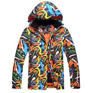 سترات التزلج الرجال كتابات اللون للماء يندبروف الشتاء الدافئ الجليد جاكيتات في الهواء الطلق الثلوج التزلج الملابس