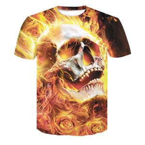 Wo Licht und Dunkelheit durch Eis und Feuer treffen T-Shirt des Schädel-3d Tropfen-Schiffs-Oberseiten-T-Stück Kurzhülse Camiseta Rundhals T-Shirt Mode
