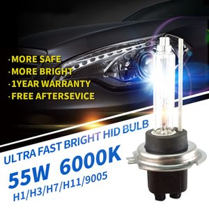 New FBI 12V 55W Xenon HID bulb More Bright lumens for Car Auto Headlight Light H1, H3, H9 H11 9005, 9006 HID 6000K