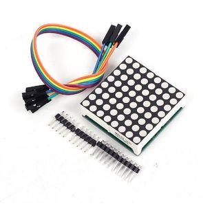 Ücretsiz kargo! 1 adet Vurgulanması Greem LED Ekran 8x8 8 * 8 Dot Matrix Modülü 3.75 * 3.75mm Arduino için Max7219