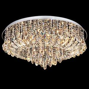 I moderni lampadari a LED a soffitto rotondo e brevettato in cristallo K9 lampadari a sospensione con lampadari in cristallo e lampadari firmati hotel villa project