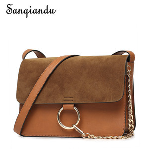 SANQIANDU Hot Sale Wome Bag Small Fashion  Design Women PU Leather Bag High Quality Shoulder Chain Organ Girls