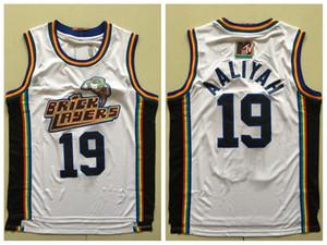 Camisetas de baloncesto blancas para hombre Aaliyah Número 19 Jersey Albañiles Sexta edición anual de Rock N 'Jock B-Ball Jam 1996 MTV Rock N Jock Movie Shirts