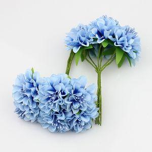 Yeni Tasarım 3 cm İpek Stamen Papatya Yapay Çiçek Çelenkler İçin Düğün Dekorasyon Diy Scrapbooking, 60pcs / Lot
