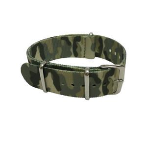 Camuflaje de calidad fina bandas de nylon de Nato correa de reloj con anillos de acero 20 mm 22 mm envío gratis 10 unids / lote
