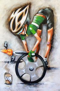 Tour de france pro bisiklet bisiklet sanat, Yüksek Kaliteli Handpainted HD Baskı Modern Soyut Pop Art Yağlıboya Tuval Üzerine Çok boyutları Ab280