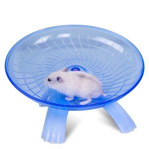 마우스 햄스터 휠 러닝 디스크 재미 비행 접시 운동 바퀴 작은 애완 동물을위한 멀티 컬러 18cm 플라스틱 편안한 애완 동물 장난감 애완 동물 용품