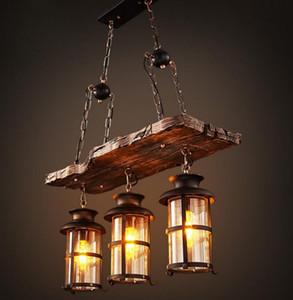 Industrial Woody ferro forjado Pendant Light Chandelier Hanging Lamp celling Luzes peça de metal Gaiola com GlassShade para Indoor Bar LLFA