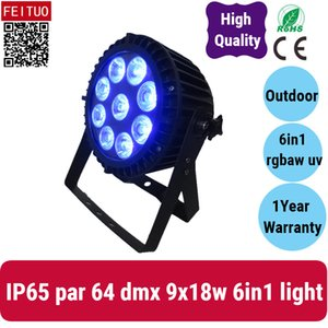 4 pièce lot Chine fournisseur étape de LED IP65 Par Can Lumière extérieure avec 9x18w étanche RGBWA 6in1 UV Par 64