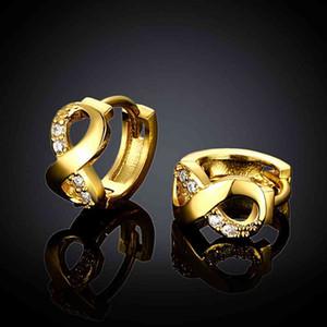 Бесплатная доставка exo женщин ювелирные изделия позолота канал серьги 8-слова клип brinco мужские украшения SKGE045