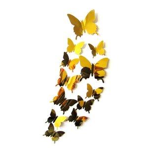 mariposa decoración 2018 nuevo producto espejo mariposa calidad PVC mariposa imanes de nevera
