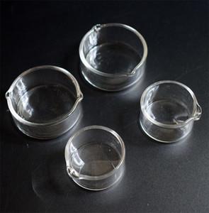 Haute qualité d'huile Anneau Cendrier Plat en verre Cendrier vaisselle Dabber vaisselle pour Mini Nectar Collector Kit Dab paille fumeur Accessoires