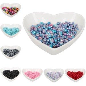 Perles imitation ABS perles, bijoux bricolage perles, collier fait à la main bijoux 4mm - 10mm emballage mixte dix couleurs 350pcs / lot