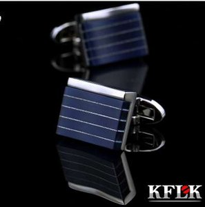KFLK jewelry shirt cufflinks for mens designer Brand Cuffs links fashion Buttons Blue High Quality Luxury Wedding Free Shipping