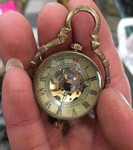 Orologio da tasca con orologio da tasca in vetro antico cinese