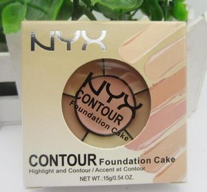 Contour Foundation Cake Concealer Palettes 6 Colors Highlighter Contour Cream Kit Powder Makeup Brands Face Cosmetic NYX