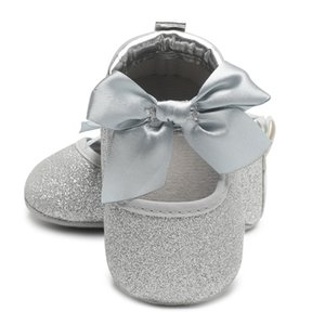 Новорожденный девочка обувь малыша мальчиков обувь Искра бабочка узел мокасины для детей Bling Фрист ходунки кроссовки