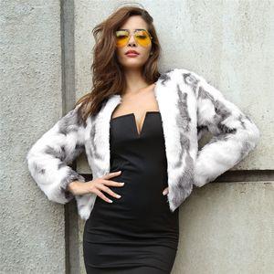Abrigo de piel sintética Lanshifei Joven Manteau Femme Hiver Abrigo de piel 2018 Invierno Nuevo diseño Manteau Fourrure Femme Corto Parka