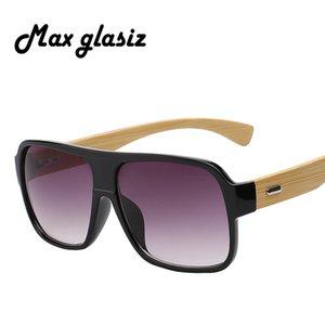 Max glasiz neue 2017 bambus rahmen platz holz sonnenbrille männer retro vintage brillen unisex männliche brille madeira
