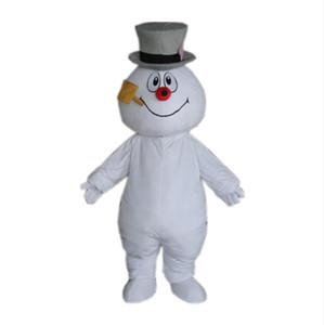 Bonhomme de neige Frosty Costumes Mascotte thème animé bonhomme de neige de Noël Cospaly mascotte Cartoon adulte caractère Halloween Carnaval fête costumée