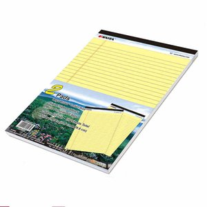 Hot Yellow Writing pad USA style Memo Pad A4 2PCS*50 sheets Legal Easy tear line Office School Supplies Notepad memo pads