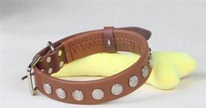 CollarDirect проката кожаный ошейник, мягкий мягкий круглый щенок воротник, ручной работы из натуральной кожи воротник для собак большие ошейники коричневый