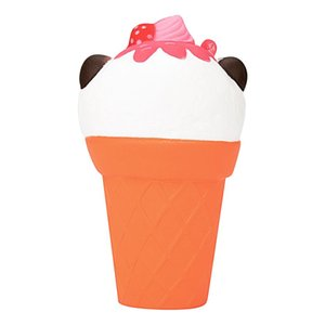 Cute Cartoon Panda Ice Cream Squishy Slow Rising Squeeze Stress Reliever Charm Toy comfortable Cellphone straps