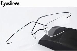 Ultraleichte Marke Silhouette neue randlose optische Brillenfassungen Frauen Männer Brillengestell Titan randlose Brillengestell Myopie Rahmen