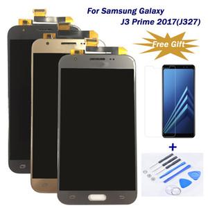 Para Samsung Galaxy J3 Prime 2017 / J327 Reemplazo Asamblea de digitalizador de pantalla táctil LCD 100% estrictamente Tesed mejor calidad precio de fábrica