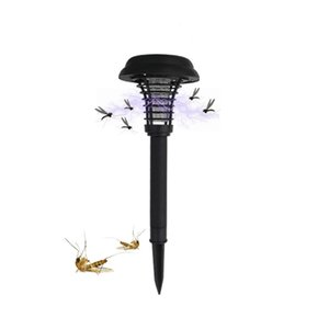 Solar Power Moskito-Mörder-Lampen-Blockiermörder-Moskito-Wanze Zapper-Nachtlicht LED-Lampen im Freien Solargarten-Rasen-Birnen-Lichter