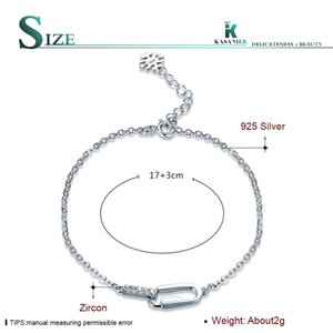 KASANIER Personality new S925 sterling silver jewelry female simple style high quality popular bracelet wholesale silver jewelry