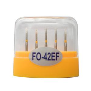 1 paquet (5pcs) fraises diamantées dentaires FO-42EF moyen FG 1,6 M pour pièce à main haute vitesse dentaire nombreux modèles disponibles