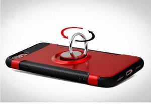 아이폰 X 8 7 기가 플러스 자동차 홀더 케이스 아이폰 5 5S에 대한 자기 흡입 브라켓 손가락 반지 TPU PC 커버 스탠드
