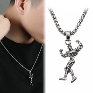 Мышцы человека ожерелье из нержавеющей стали Gym Фитнес Бодибилдинг Jewelry