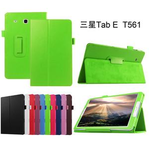 Custodia in pelle per Samsung Galaxy Tab 9.6 e T560 T561 SM-T561 Tablet supporto pieghevole in foglio di copertura + Stylus