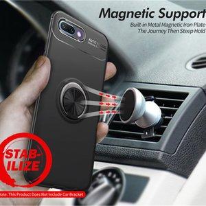 Магнитное кольцо стенд телефон Case для HUAWEI Honor 10 lite 9 Play 8X Anti-throwing Protection полное покрытие автомобильный держатель Case