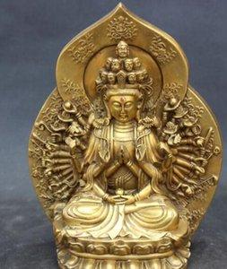 "WBY --- 401 +++ 9 ""Tibet Buddhism Bronze 1000 Arms Avalokiteshvara of Goddess Bronze Statue"