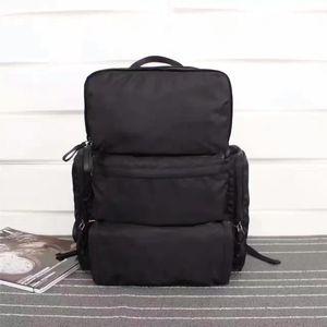 P Brand Brand Backpack Balck Nylon Backpacks ذات جودة عالية إمرأة ورجال حقيبة الظهر 175 نمط حقيبة الحجم 32 * 40 * 18 سنتيمتر كبيرة الحجم رياضة الظهر