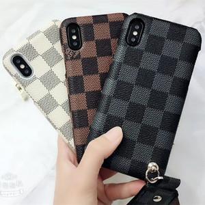 Новый телефон случае мода тенденция дамы сотовый телефон shell роскошные решетки iPhone case для iphone X case iphone 6 7 8plus бесплатная доставка