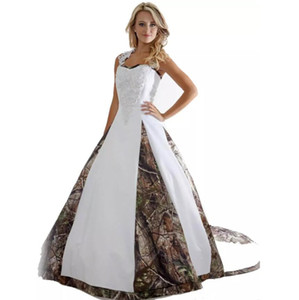 2020 Hottest Wedding Dresses Appliques Ball Gown Long Camouflage Wedding Party Dress Bridal Gowns Custom Made A-Line Wedding Dress