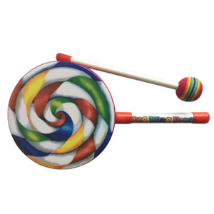Kids Percussion Lollipop Drum, 6inch-MUSIC